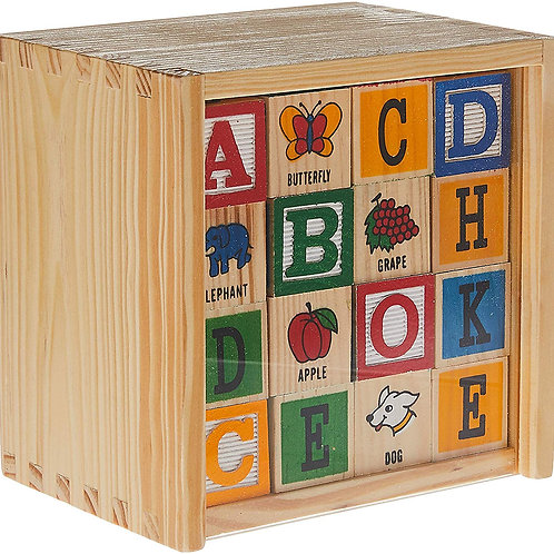 Classic Wooden ABC Wooden Blocks - 48 Pieces