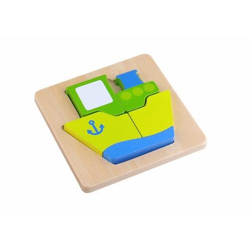 Mini Wooden Puzzle - Ship