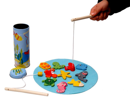 Wooden Fishing Tin Game