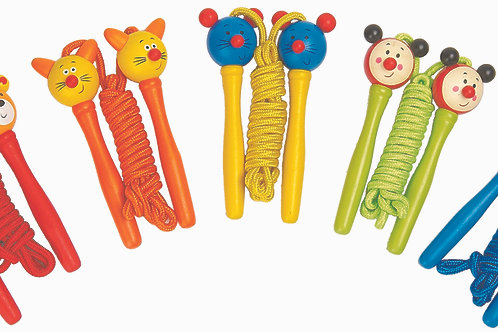 Wooden Animal Head Jump Rope