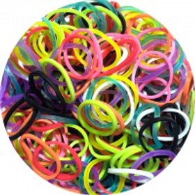Mixed Colored 600 Rubber Bands