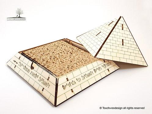 Pyramid Matza Holder -DIY Wooden Model