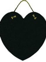 Real Slate Heart Shape with Natural Jute Hanger