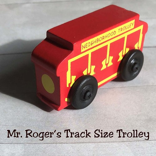 Vintage Toy Wooden Mr Mister Rogers Neighborhood Trolley
