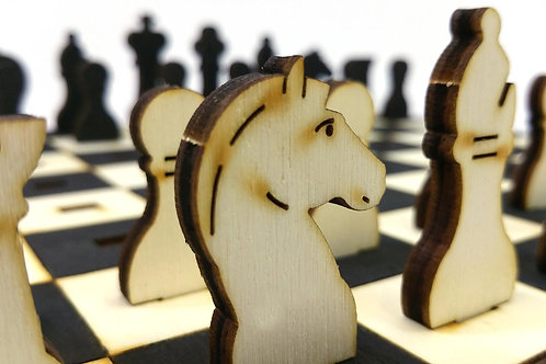Chess Set Wooden Model