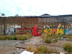 fantasma de 1900 sobre grafitti