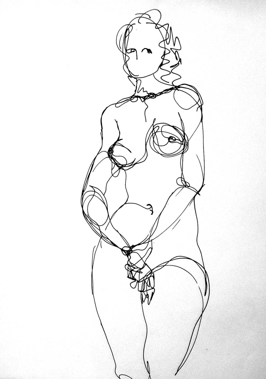 desnudo frontal