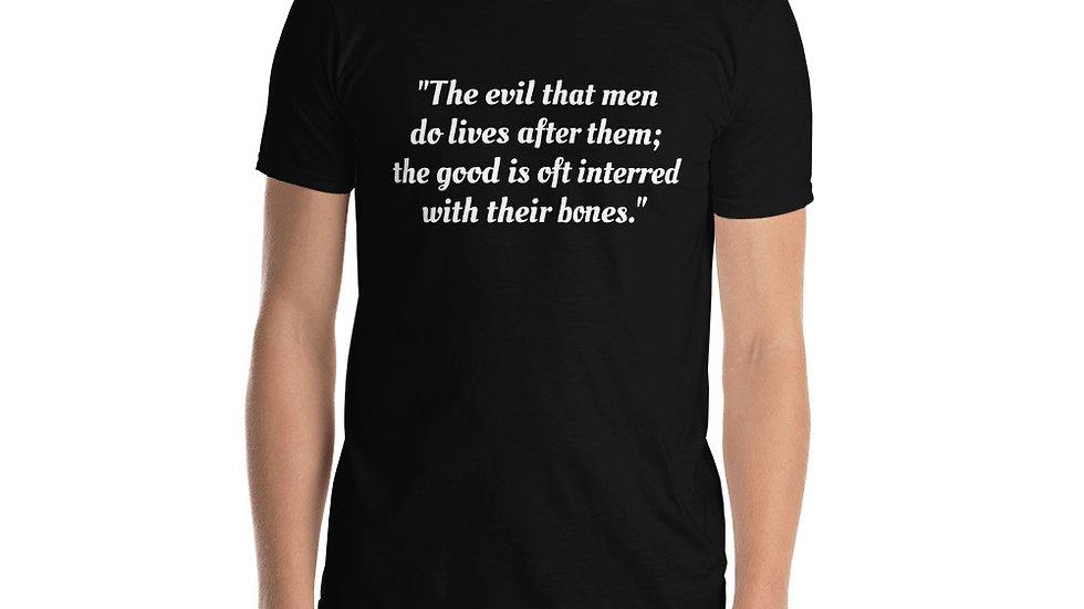 Short-Sleeve Unisex T-Shirt Shakespeare Caesar Good Evil