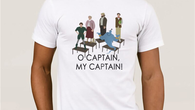 Robin Williams Homage Tribute O Captain My Captain T-Shirt