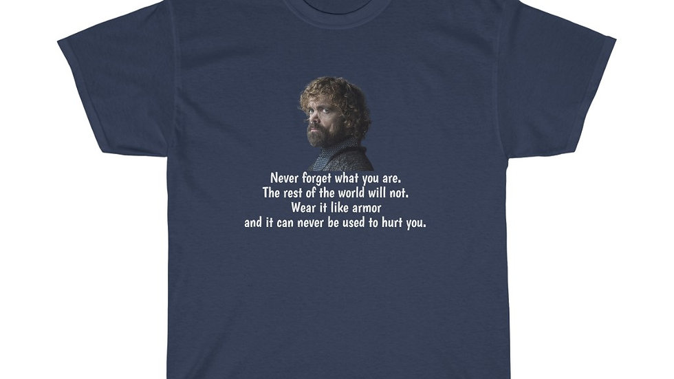 Tyrion Lannister Game of Thrones Never Forget Unisex Heavy Cotton Tee