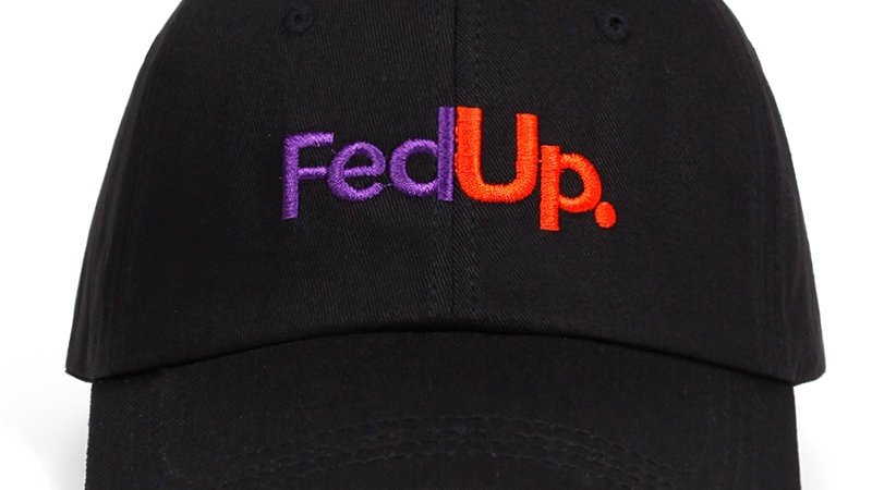 FedUP Embroidery Baseball Hat  FedEx Funny