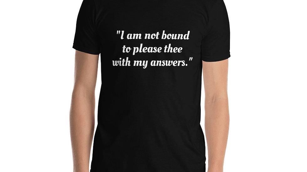 Short-Sleeve Unisex T-Shirt Shakespeare Shylock Merchant of Venice