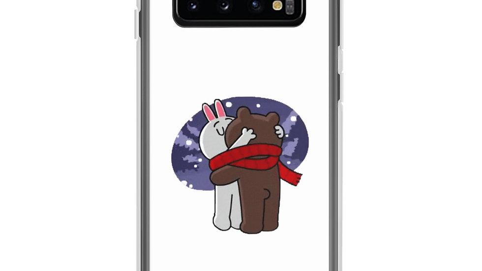 Winter Brown Bear Kissing Cony Bunny Samsung Case