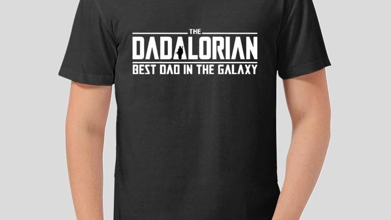 Dadalorian T Shirt Men Mandalorian Best Dad in the Galaxy
