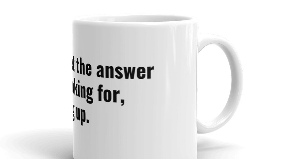 When you get the answers you're looking for hang up.  Billy Beane Moneyball Mug