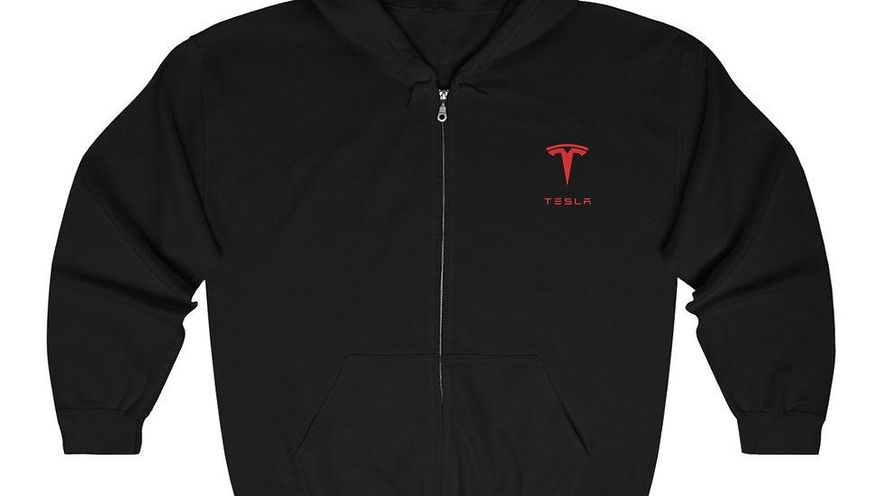 Tesla Unisex Heavy Blend Full Zip Hooded Sweatshirt