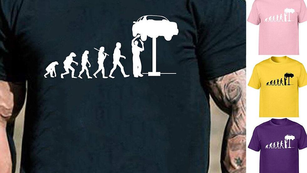 Men's T Shirt Evolution Mechanic Car T-Shirt