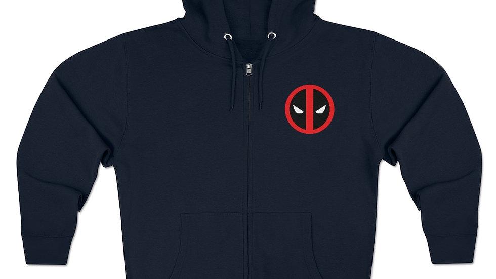 Deadpool Logo Unisex Premium Full Zip Hoodie
