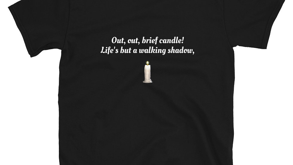 Shakespeare Macbeth Out Out Candle T-Shirt