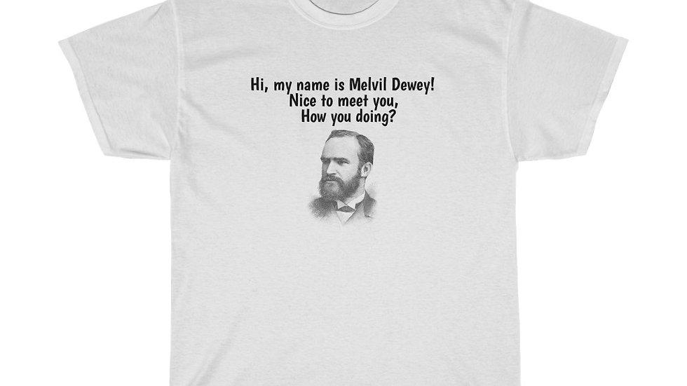 Melvil Dewey Unisex Heavy Cotton Tee Library Rap