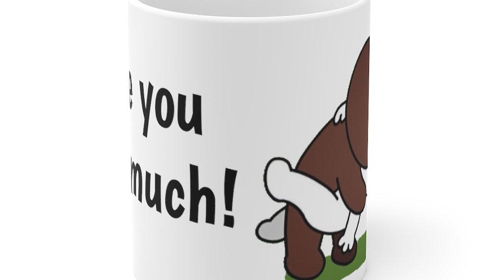 Cony and Brown Kiss Ceramic Mug 11oz Bunny Bear Town Line Friends
