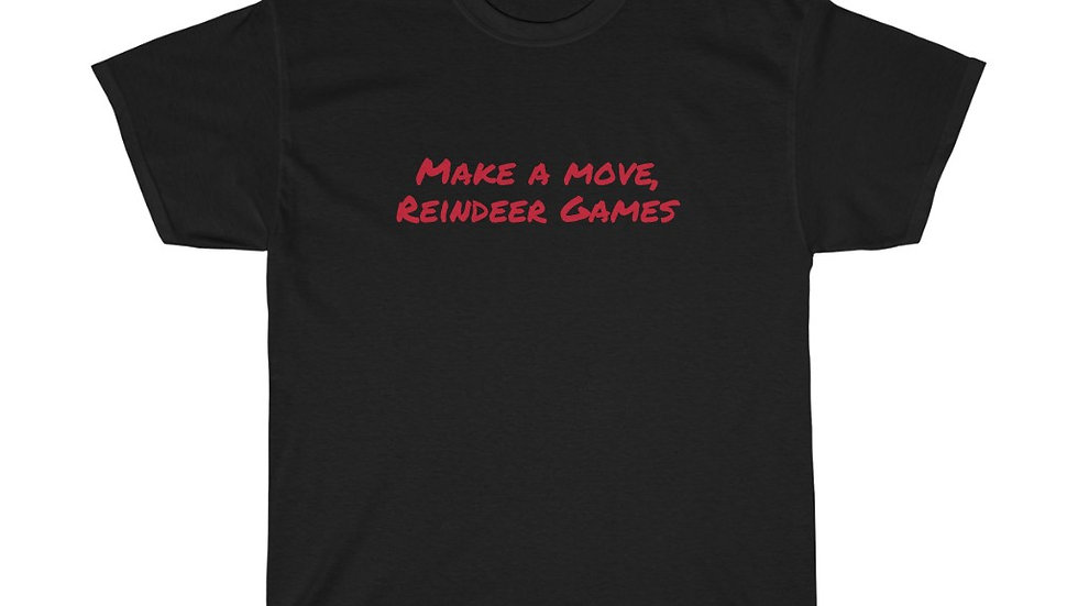 Make a move Reindeer Games Unisex Heavy Cotton Tee Iron-Man