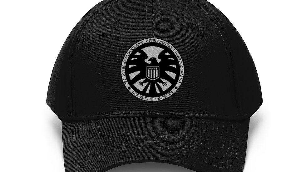Shield Embroidered Unisex Twill Hat