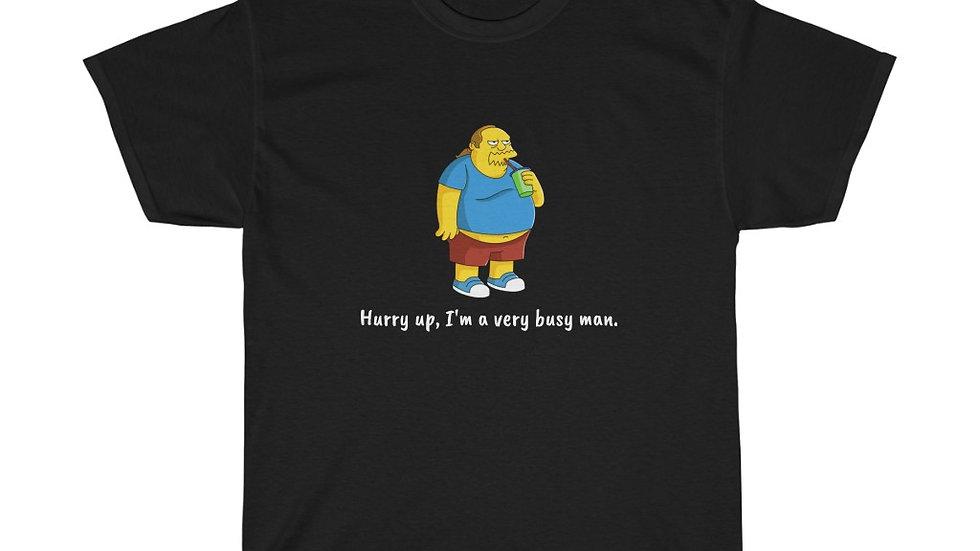 Comic Book Guy Busy Man Unisex Heavy Cotton Tee Simpsons