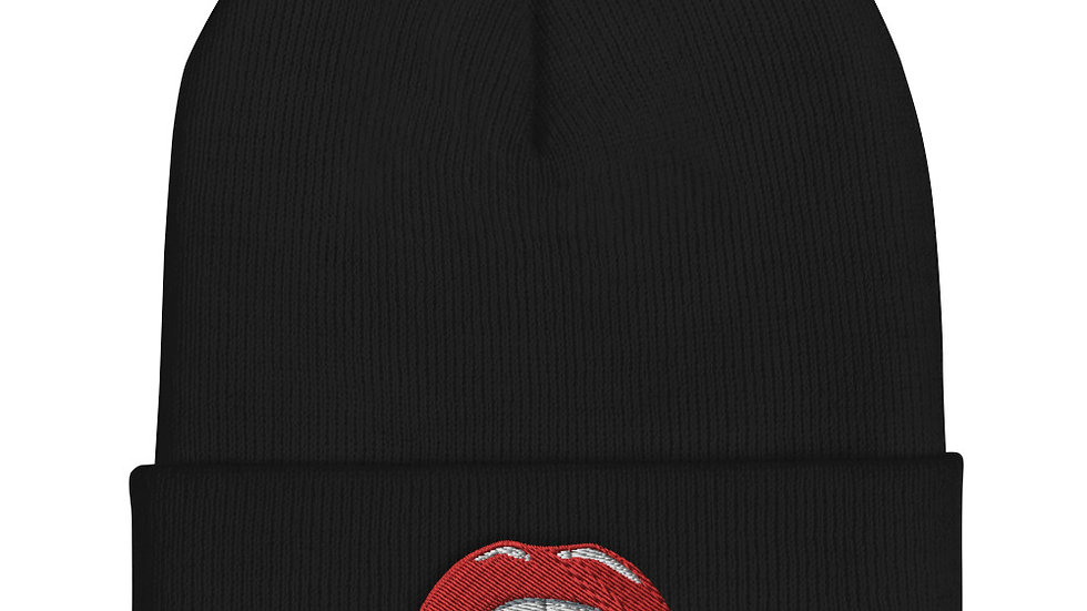 Sexy Lips Cuffed Beanie