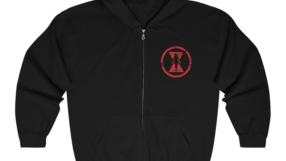 Black Widow Unisex Heavy Blend Full Zip Hooded Sweatshirt