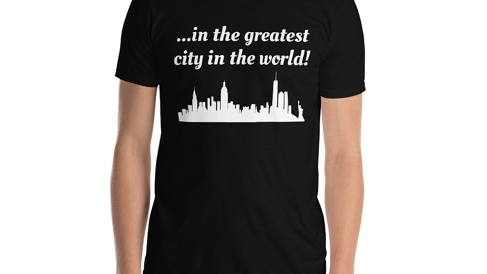 Short-Sleeve Unisex T-Shirt Hamilton NYC Skyline