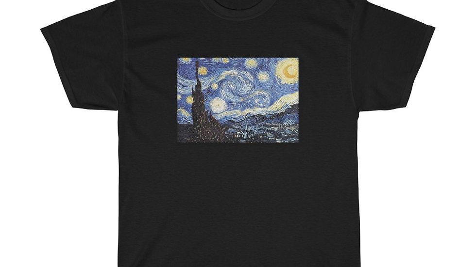 Starry Night Unisex Heavy Cotton Tee Van Gogh
