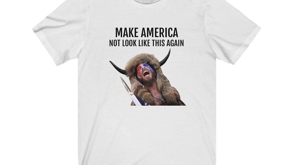 Make America not look like this again Unisex Jersey Short Sleeve Tee