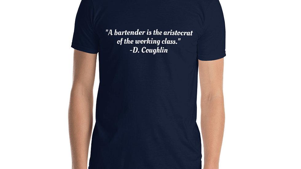 Short-Sleeve Unisex T-Shirt Cocktail Movie Coughlin's Law Bartender Aristocrat