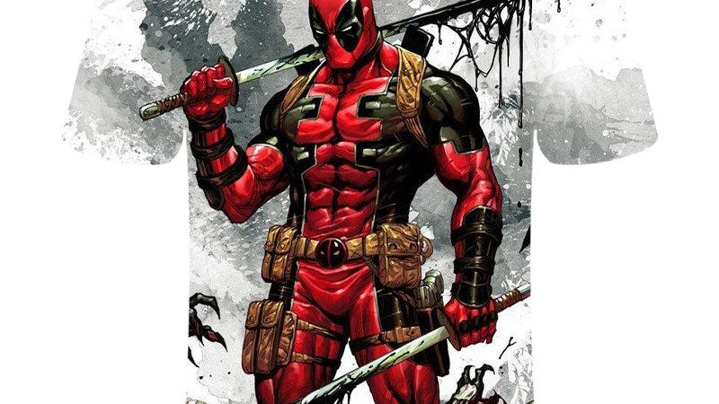 Deadpool T-Shirt Wade Wilson Marvel Comics
