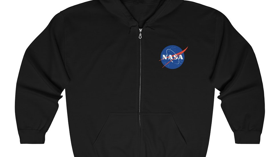 NASA Logo Unisex Heavy Blend Full Zip Hooded Sweatshirt
