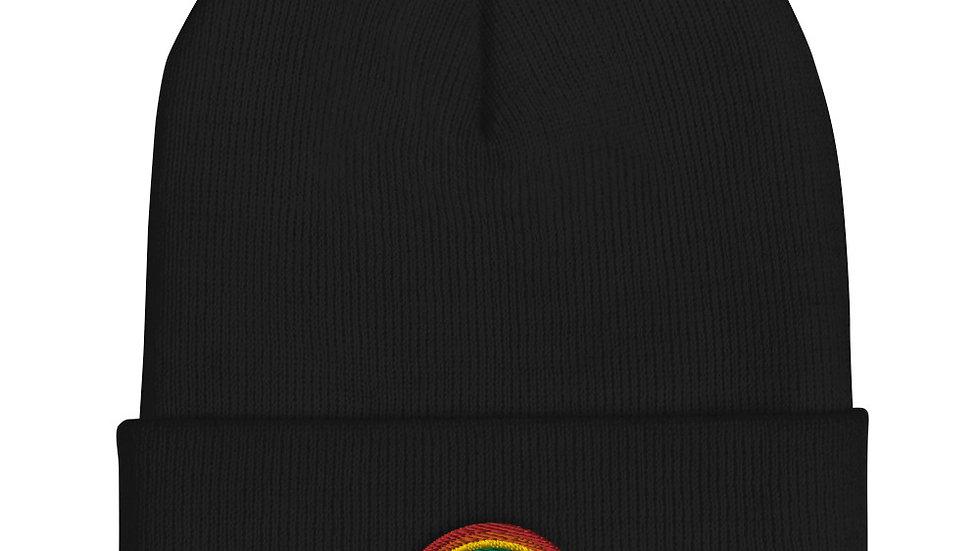 LGBTQ Rainbow Cuffed Beanie Winter Hat