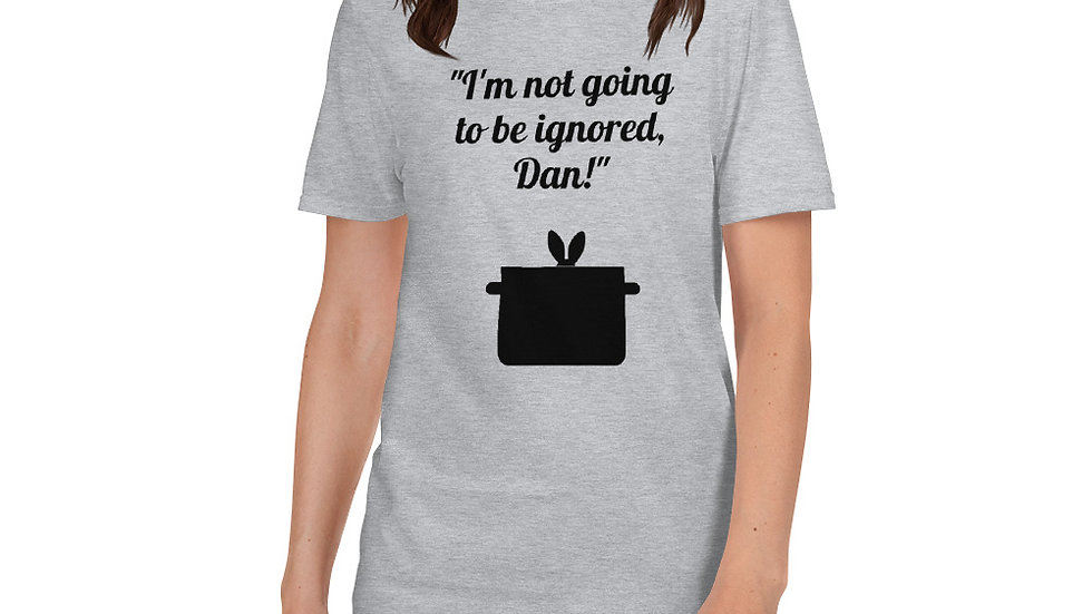 Short-Sleeve Unisex T-Shirt Fatal Attraction Bunny Rabbit Pot