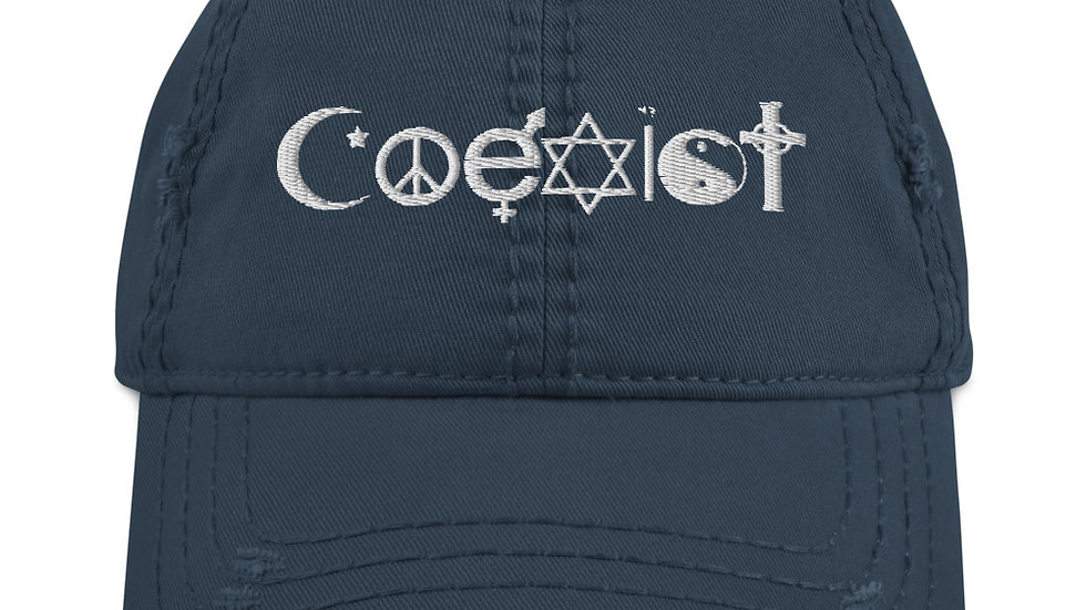 Coexist Peace Distressed Hat