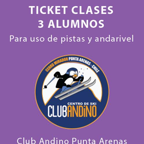 Ticket clase 3 alumnos