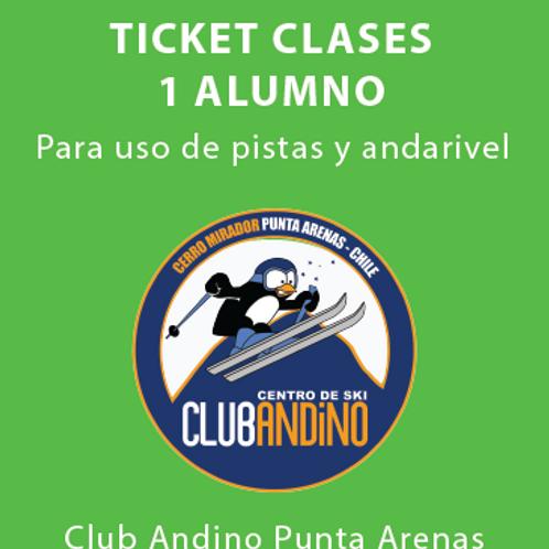 Ticket clase 1 alumno