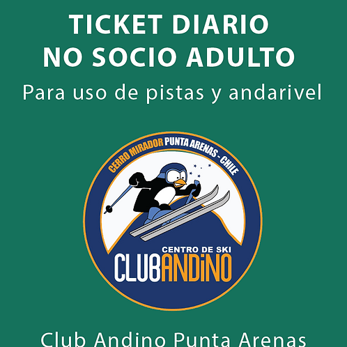 Ticket No socio adulto
