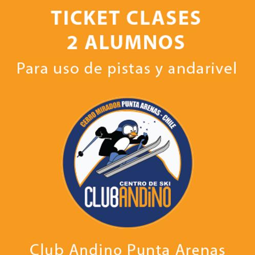 Ticket clase 2 alumnos