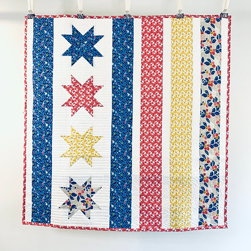 Cloud9 Baby Quilt - Stars on Left