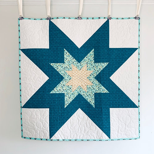 Expanding Star Baby Quilt