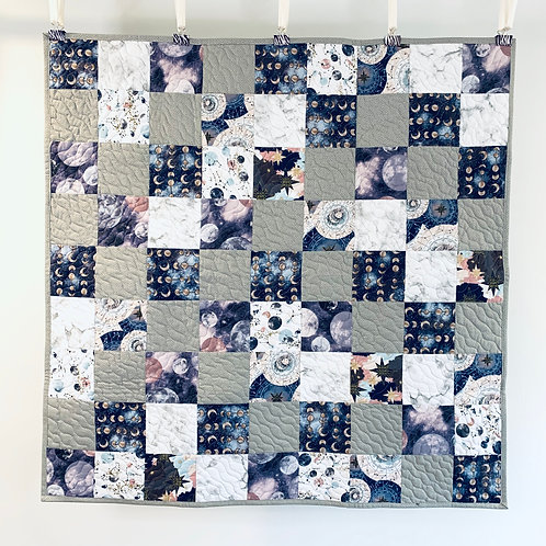 Patchwork Baby Quilt - Galactic Prints