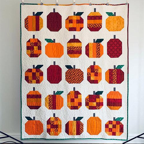 Pumpkins Throw Quilt