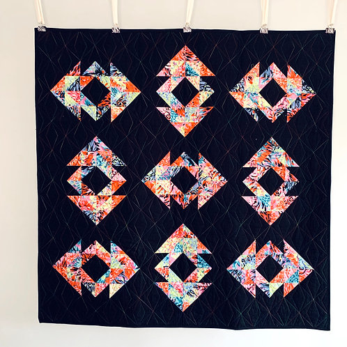 Tumbling Tones Baby Quilt