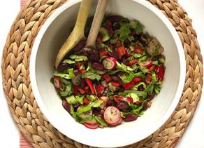 Healthy Vegan Kidneybean Salad
