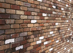 Recycled brick feature wall in Batemans